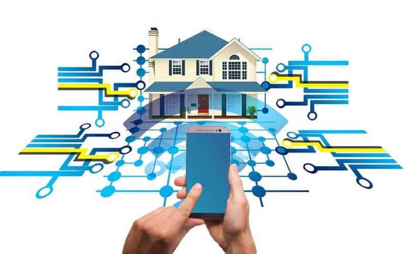 O lar digital sistemas de tecnologia inteligente